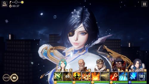 海外ゲームアプリ「オーバーヒット」のゲーム画面